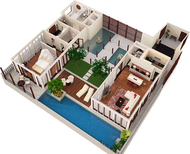 Visrez we bring spaces to life 3d modeling making for Turn floor plan into 3d model